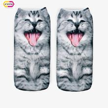 20 Colors You can choose 3D Print Animal women Socks Casual cartoon Socks Unisex Low Cut Ankle Socks
