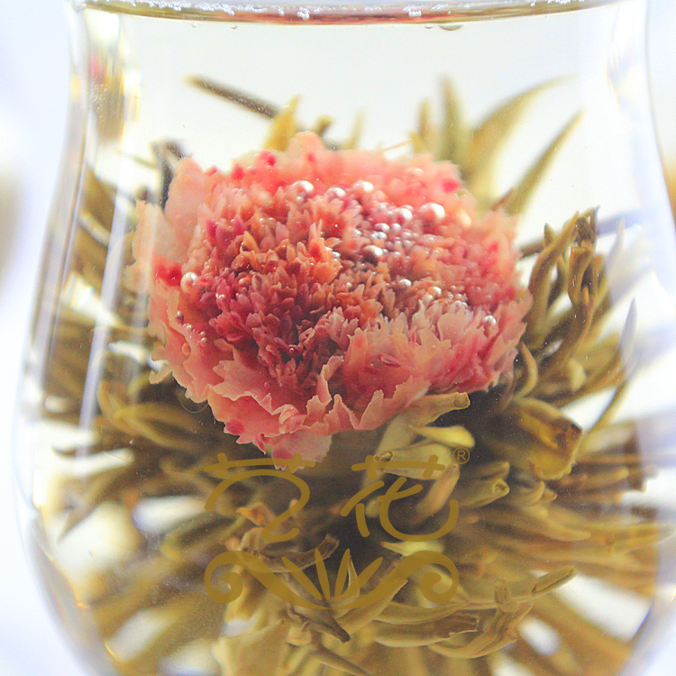 2016 China Fashion Designed Chic Different Handmade Blooming Flower Green Tea()