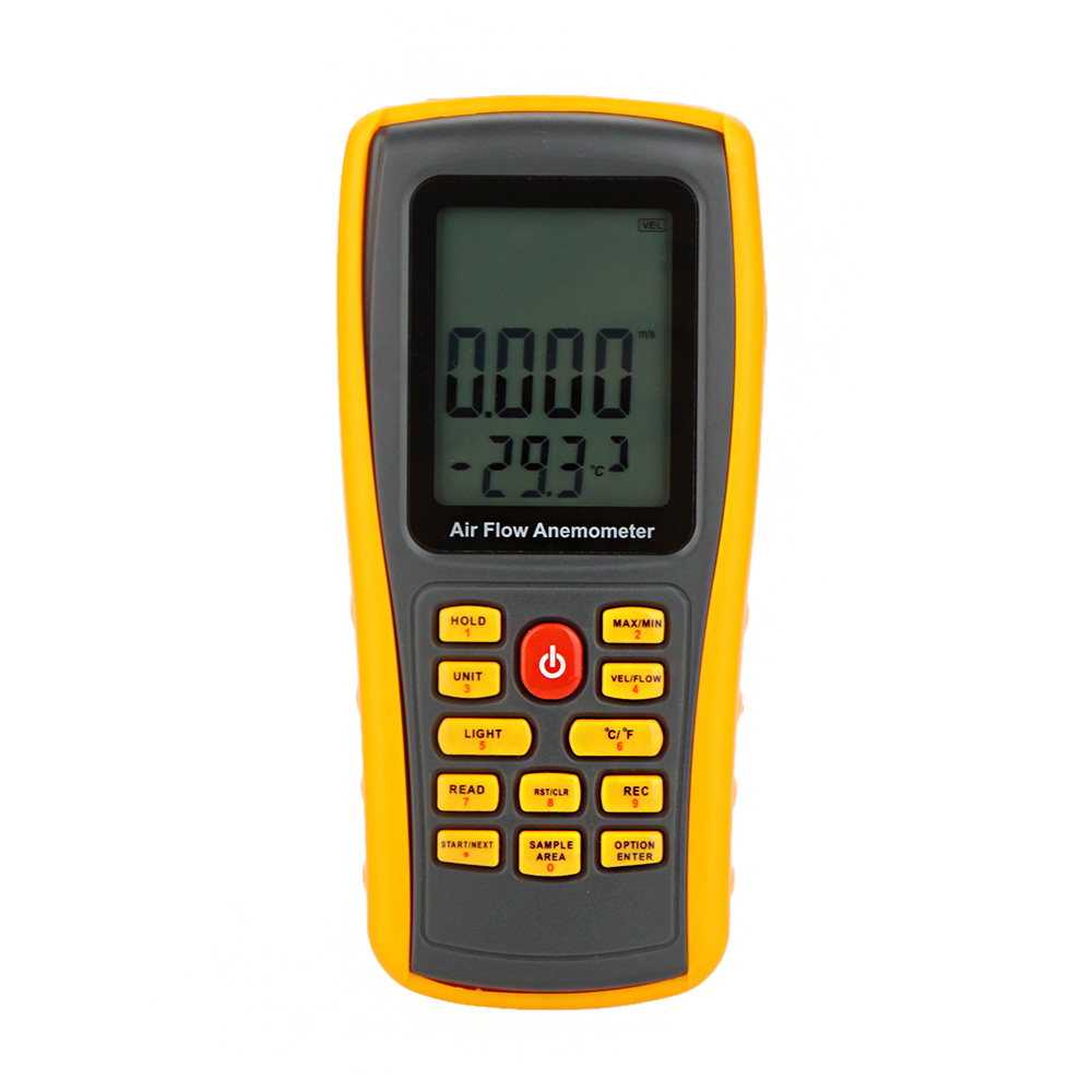 GM8902 Digital Anemometer tachometer Wind Speed Meter velocity Air Flow Tester Air Temperature Meter 0~45m/s with USB Interface(China (Mainland))