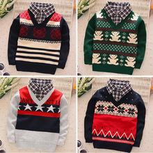 BibiCola новый фол Два Шт моды ребенка осень зима свитер детская одежда мальчиков/девочек кардиган свитер пальто детская свитер(China (Mainland))