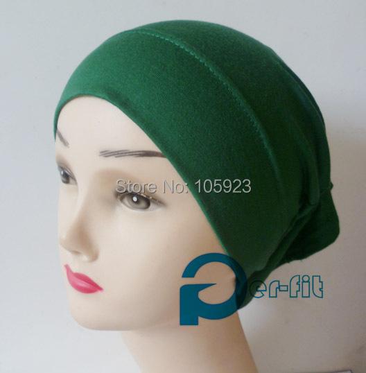 Tubo de la bufanda turbante tubo calificado diadema suave algodón quimio interior underscarf hijab 15 colores 15 unids/lote envío gratis(Hong Kong)