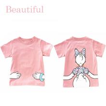 Fashion Baby Girls T-Shirt 95% Cotton Summer Short Sleeve Cute Cartoon T-Shirt Children's Clothing Kids Tee