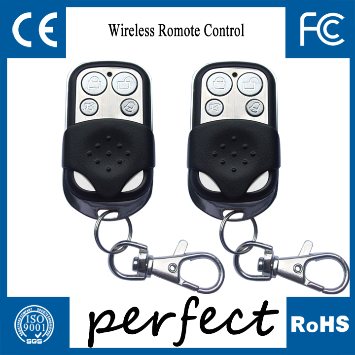 Wireless Keychain Remote Control Home Alarm Keyfobs w Slide Cover Metal Material BLACK<br><br>Aliexpress