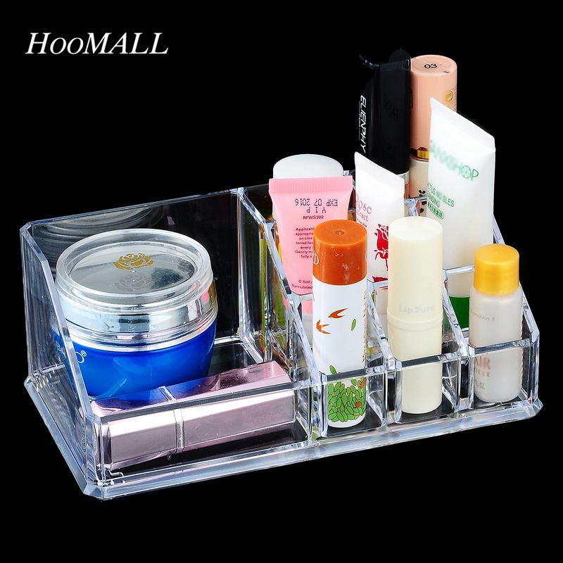 Hoomall Brand Plastic Storage Box For Jewelry Makeup Container Organizer For Cosmetic Storage Box Organizer Case(China (Mainland))