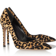 HOT Sexy leopard shoes luxurious women dress shoes stiletto heels pointed toe design slip-on brown leopard high heels sexy pumps(China (Mainland))