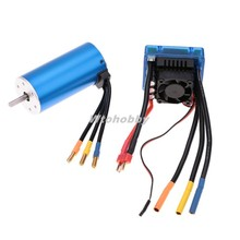3674 2250KV 4P Sensorless Brushless Motor W/ ESC 120A for 1/8 RC Car Truck Toy Parts