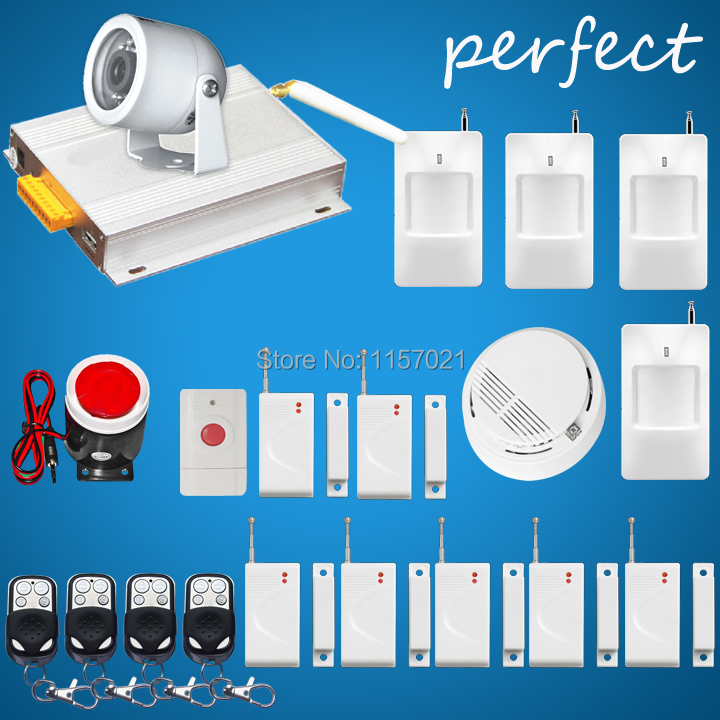 DHL Free GSM Security MMS Alarm System with Camera PIR Motion Detection MMS SMS Function Night Vision 900/1800/1900mhz(China (Mainland))