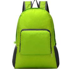 New Simple Design Floding Women Men Unisex Travel Outdoor Backpack Leisure Bag Schoolbag Rucksack Foldable Bag zx0072