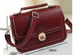 Retro Messenger Bag Women Classy Shoulder Bag Lovely Designer PU Ladies Crossbody Bag Blue Black Burgundy Small Shoulder Bag