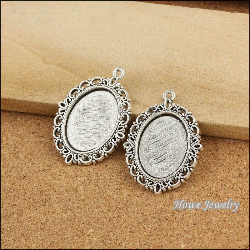 aliexpress buy 30pcs silver tone plated oval cameo
