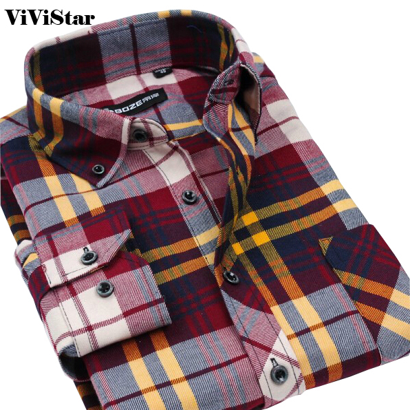 Buy flannel men shirts 2014 new non iron for Best flannel shirt brands