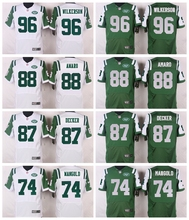 New York Jets #96 Muhammad Wilkerson #88 Jace Amaro #87 Eric Decker #74 Nick Mangold Elite White and Green Team Color(China (Mainland))