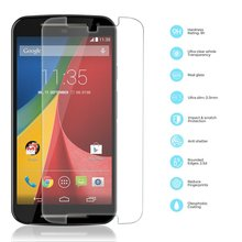 Front Premium Tempered Glass Film Thin 0.3mm Screen Protector For Motorola MOTO G2 G3(China (Mainland))