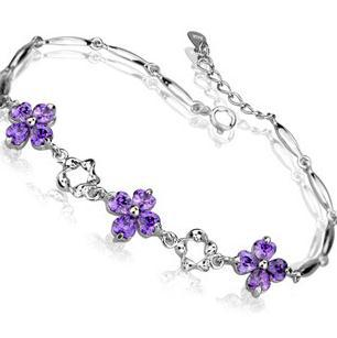 2016 high quality classic fashion flower 925 sterling silver ladies bracelets jewelry wholesale price(China (Mainland))