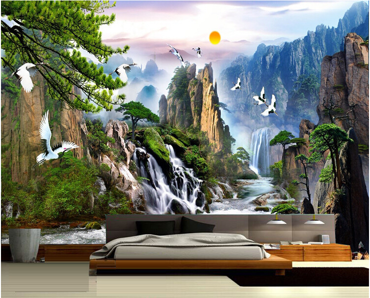Popular china nature wallpaper buy cheap china nature for Chinese mural wallpaper