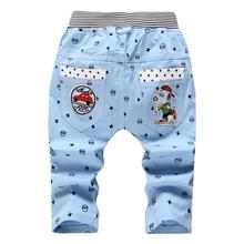 2016 Summer Styles Cartoon Child Pants Boys Jeans Calf-length Pants for Boys Children Casual Pants(China (Mainland))