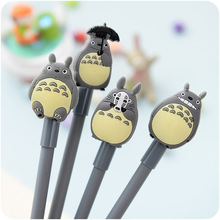 1 Pc / Pack Novelty Cute My Neighbor Totoro Gel Ink Pen Signature Pen Escolar Papelaria School Office Supply Promotional Gift