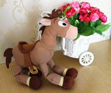Free Shipping wholesale 6pcs/lot 20cm=7.8inch toy story Red star horse Bullseye horse Cartoon plush and stuffed baby soft toys(China (Mainland))