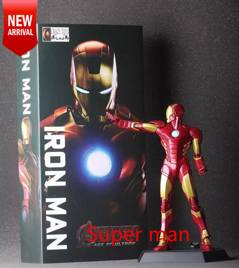 Two Styles The Avengers Alliance Iron man Model MK3 light Hands Gloves Marvels Action Figure Movie Collectiable Robot Crazy Toys(China (Mainland))