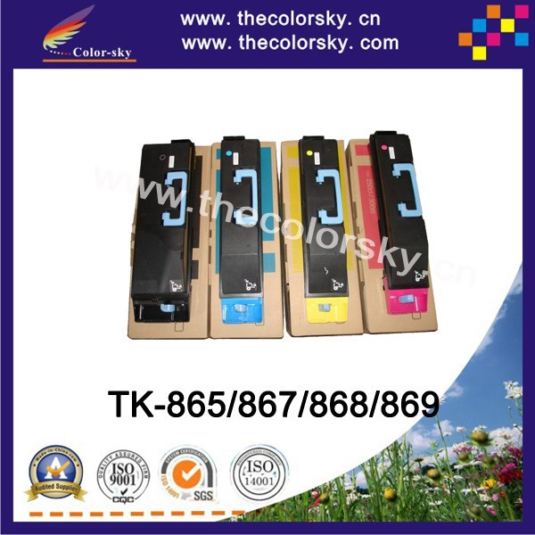 Фотография (CS-TK865) Color toner laserjet printer laser cartridge For Kyocera Taskaifa 250ci 300ci TK 865 867 868 869 (20k/12k pages)