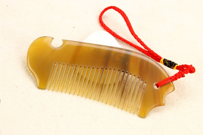 Personalized Pocket OX Sheep Horn Comb Tangle Elite Hair Brush Anti Static Engrave Words Health Care Masager cheap