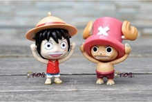 100pcs/lot EMS Free Shipping Anime One Piece Luffy Chopper with 2 Different Face Turn Face PVC Figure Toys Keychain
