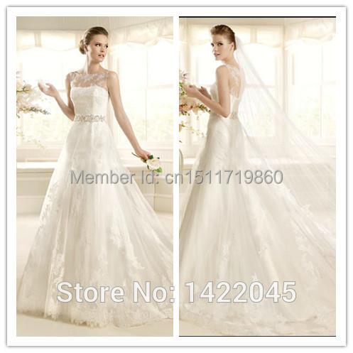 Elegant Cap Sleeve A Line See Through Corset Wedding Dresses Sexy vestidos de gala Lace Bridal Gowns(China (Mainland))