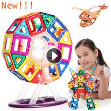 Mini 106PCS Magnetic Designer Construction Building Blocks Kids Toys Technic Plastic Blocks Assembly Children Enlighten Bricks(China (Mainland))