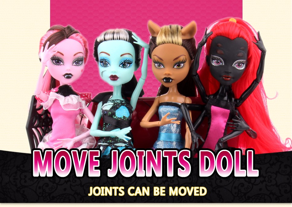 Style Dolls Cartoon four pcs/set Shifting 12-Joint Physique Ladies Toys Reward for Woman Diy doll home for barbie equipment