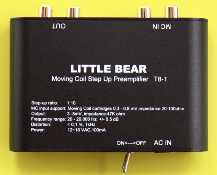 LITTLE BEAR T8-1 BLACK Turntable phono Moving Coil MC Step-Up Electronic Transformer(China (Mainland))