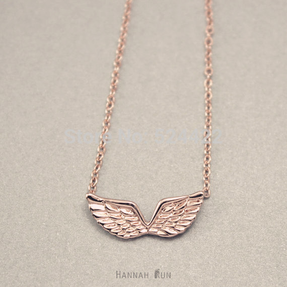 Angel Wings necklace , Angeltee necklace, beautiful wings in gold and silver