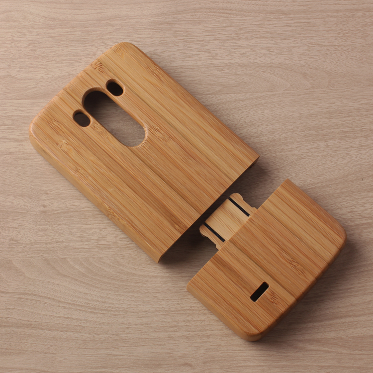 High Quality Nature Wooden Back Sheel Covers Fashion Phone Cases Wood Case Genuine Bamboo Skin Housing For LG G3 D855 Whosale(China (Mainland))