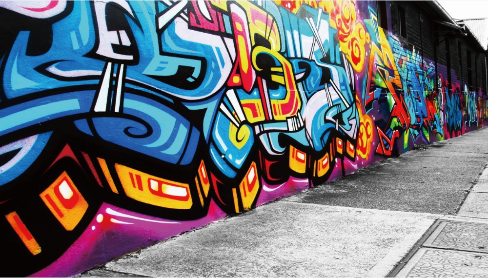 "Free shipping 24""x42""inch graffiti,style,wall drawing Poster-1045 HD WALL Decor Custom Painting PRINT Silk Wallpaper unframed(China (Mainland))"