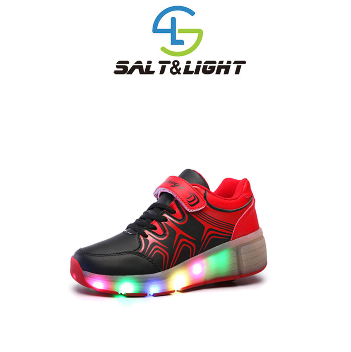 Children Heelys Wear-Resisting Wheels Shoes Boy & Girl Automatic LED Lighted Flashing Roller Skates Kids Fashion Sneakers(China (Mainland))