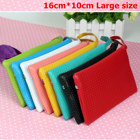 Cheapest womenm Purse Zip Coin Bag Candy Color Mobile Phone Bag Wrist bag Silicon Wallet Fruit Purse(China (Mainland))