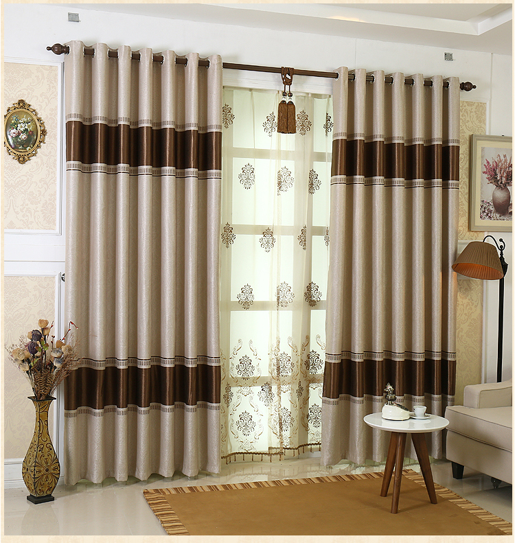 European style high grade blackout curtains living room - European style curtains for living room ...