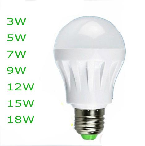 Quality Assurance 5Pcs/lot E27 B22 Light Bulb 10W 12W 15W LED Bulb Lamp, AC 220V Cold/white Led Spotlight(China (Mainland))