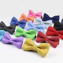 Children Fashion Formal Cotton Bow Tie Kid Classical Dot Bowties Colorful Butterfly Wedding Party Pet Bowtie Tuxedo Ties(China (Mainland))