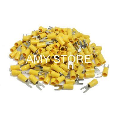 Здесь можно купить  SV5.5-3.5 Fork Type Pre Insulated Wiring Terminals Yellow for AWG 12-10  Электротехническое оборудование и материалы