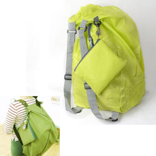 TEXU Green folding backpack women waterproof Convert Storage Bag Shoulder Bags(China (Mainland))