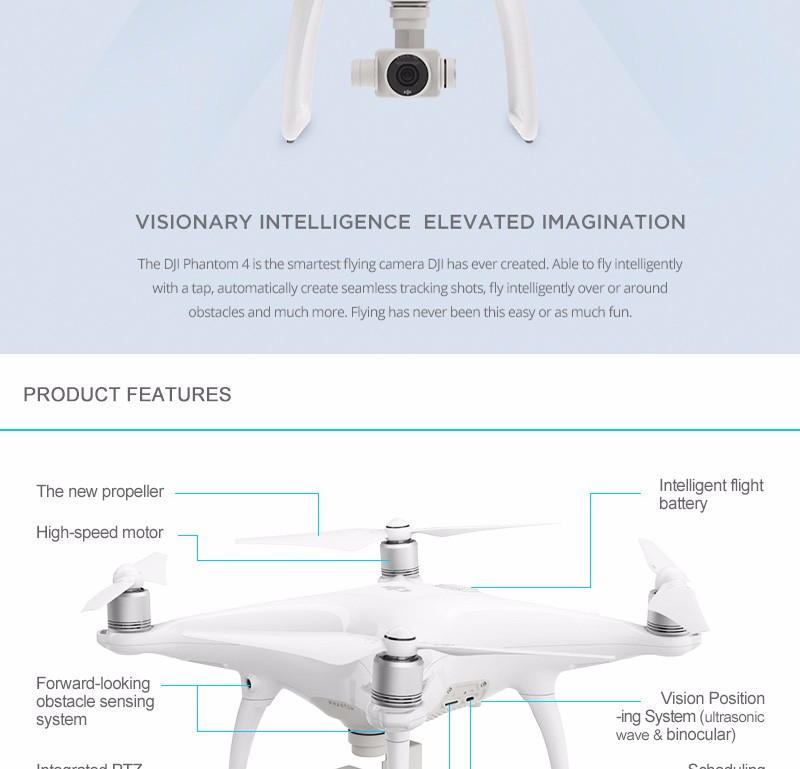 IN stock!!!2016 Newest! DJI Phantom 4 Quadcopter with 4K Camera and 3 Axis Gimbal for Drones Photographer Phantom 4 Quadcopter