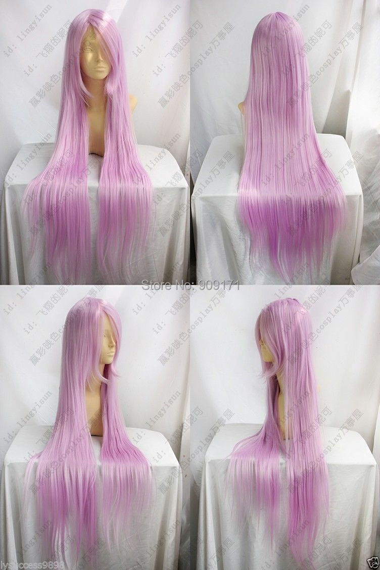 free Shipping**Cosplay cos wigs Anime Game hair full wig pink orchid 100cm<br><br>Aliexpress