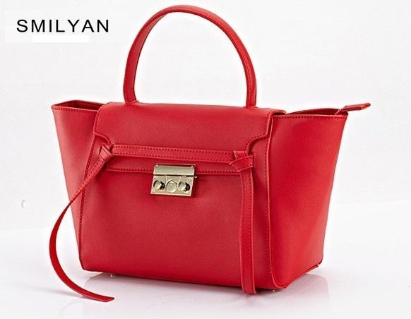 Smilyan belt women genuine leather bag fashion crossbody shoulder bags handbags famous brands catfish designers bolsos femininas