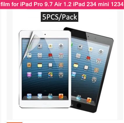 5PCS/Pack high quality clear matte screen protector for ipad pro 9.7 12.9 air 2 1 mini 1 2 3 4 anti glare protective film cover(China (Mainland))