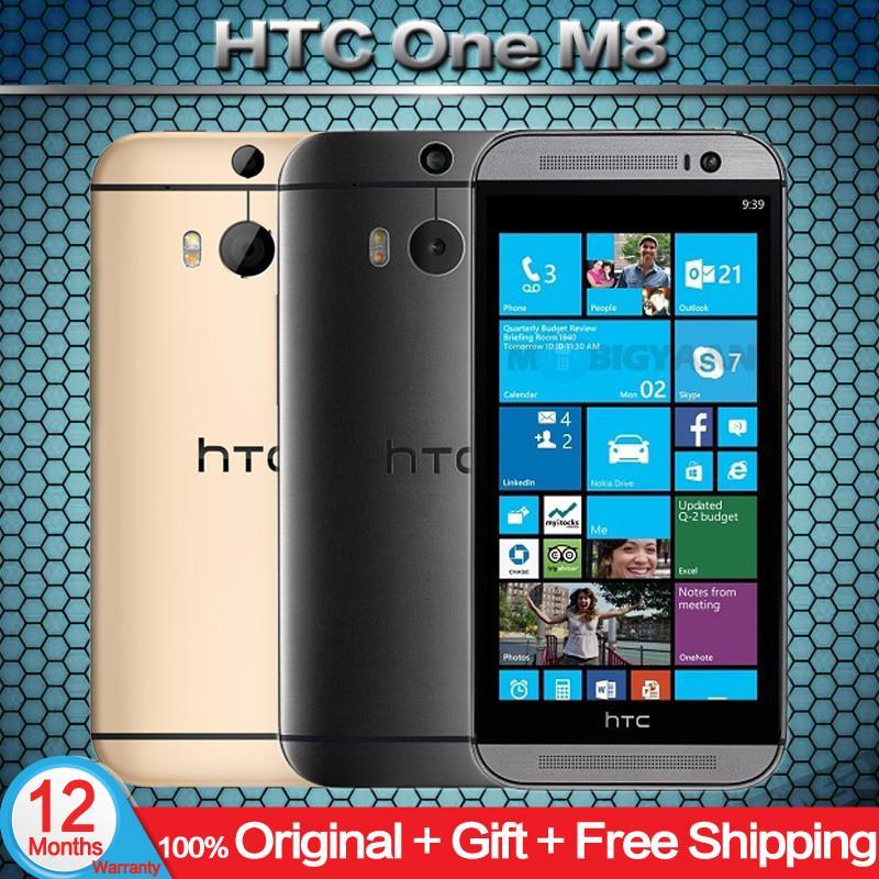 Original Unlocked HTC One M8 Cell phones 5'' Qualcomm Quad core 16GB 32GB ROM Refurbished phone 3 Cameras Android Mobile Phone