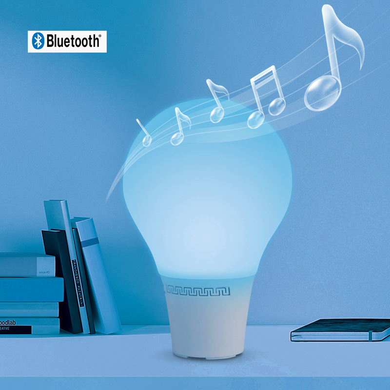 led light bulb speaker dimmable wireless rechargeable battery operated. Black Bedroom Furniture Sets. Home Design Ideas