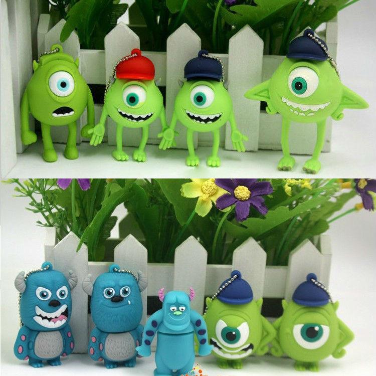 free shipping 11pcs/lot Wholesales New Genuine cartoon Electronic monsters model USB 2.0 Flash Memory Stick Drive Thumb/Car/Pen(China (Mainland))