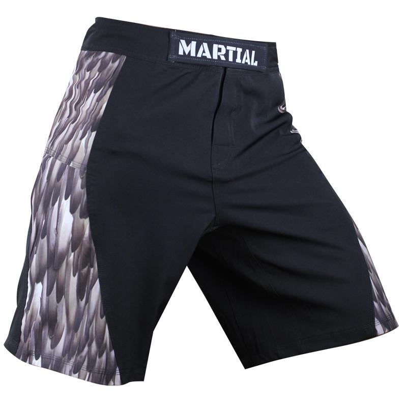 Testing Warrior: feather series MMA shorts shorts digital printing original genuine combat fitness<br><br>Aliexpress
