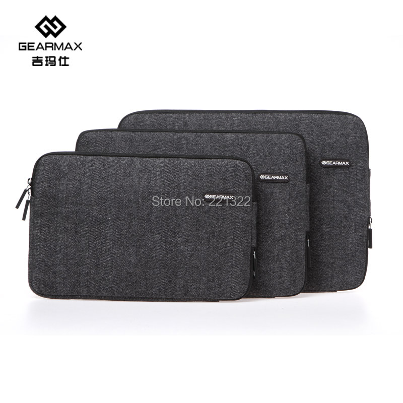 2015 Gearmax Laptop Bags 13 Black Felt Bag For Macbook Air 13 Inch Laptop Sleeve For Macbook Pro 13 Case Notebook Free Shipping(China (Mainland))
