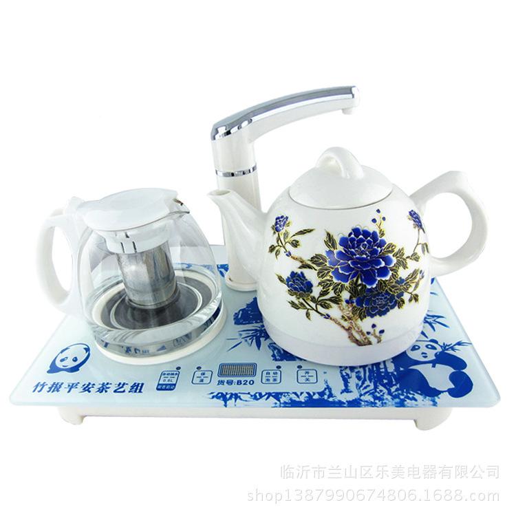 Eua internacional de água automático queimar hidrelétrica cor deslumbrante bule de cerâmica bule lojas de fábrica presente(China (Mainland))